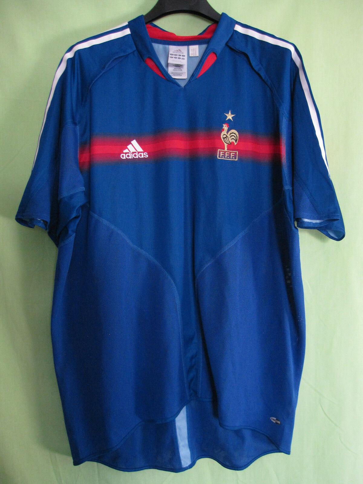Maillot Equipe de France 2004 Vintage Adidas Jersey Football - XL