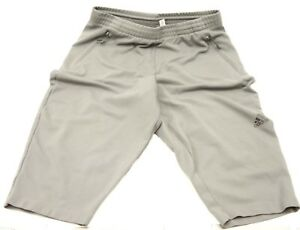 Image is loading Womens-Adidas-Gray-Shorts-Cropped-Capri-Sweatpants-Joggers- 2f0fc54435
