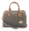 Michael-Kors-Bedford-Leather-Signature-Large-Duffle-Satchel-Handbag thumbnail 14