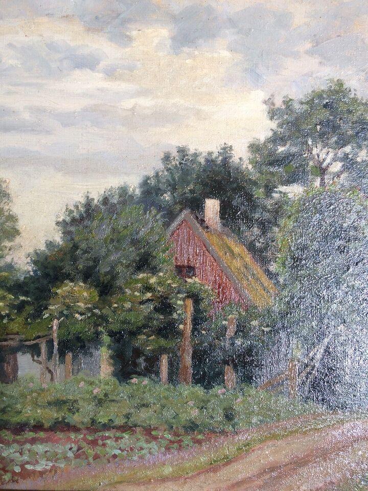 Oliemaleri, Ubekendt kunstner, motiv: Landskab