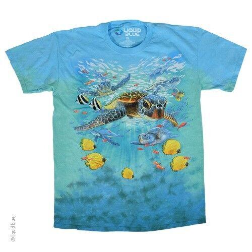 New SEA TURTLES Tie Dye T Shirt