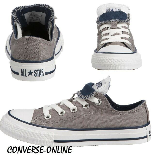 4f0b8de2f176 KIDS Boys Girl CONVERSE All Star GREY DOUBLE TONGUE OX Trainers Shoes SIZE  UK 10