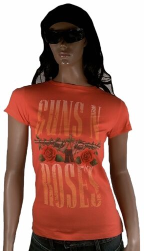 AMPLIFIED Official GUNS N/'ROSES Schriftzug Logo Rock Star Designer WoW T-Shirt S