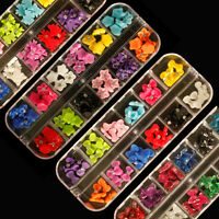 60pcs ACRYLIC 3D RHINESTONE NAIL ART DECORATION BOWS IN CASE UK SELLER