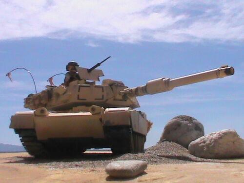 Sous-officier Playmobil Custom Tank Abrams (Syrie-2018) Ref-008