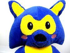 """2013 Namco Bandai Rocket Fox Blue & Yellow Plush Stuffed Animal Toy 12"""" App Game"""