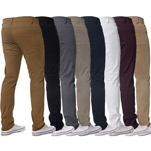 Kruze-Mens-Slim-Fit-Chinos-Jeans-Skinny-Stretch-Trousers-Pants-Big-amp-Tall-Sizes