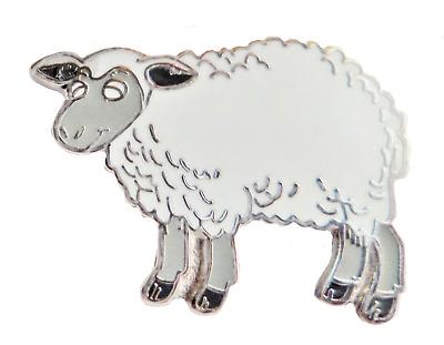 Billy goat pin badge Farm animal Ram.
