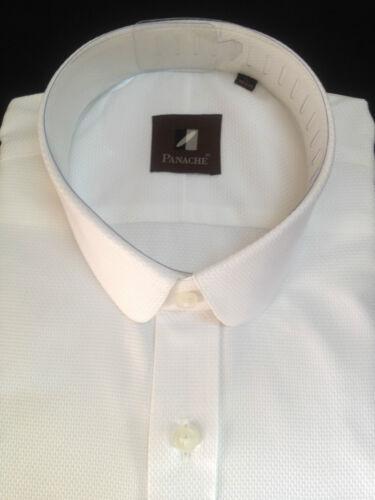Cotone Peaky Colletto Rotondo Camicia Manica Bianco Penny Lunga Uomo Blinders bYfg76yv