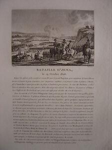 Gravure De La Bataille D' Jena Iéna Napoléon Bonaparte Quell Summer Soif