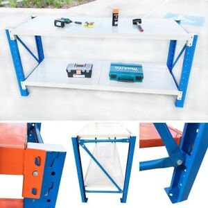 Steel-Warehouse-Workbench-Shelving-Racking-Stand-Shelf-Garage-Racks-Work-Benches