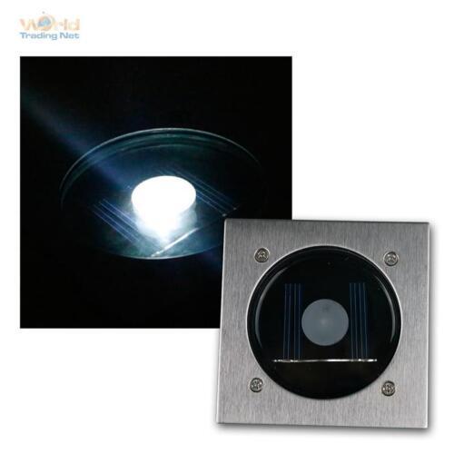 Solar LED Bodenstrahler CTB eckig Edelstahl-Front Bodeneinbaustrahler Bodenlampe
