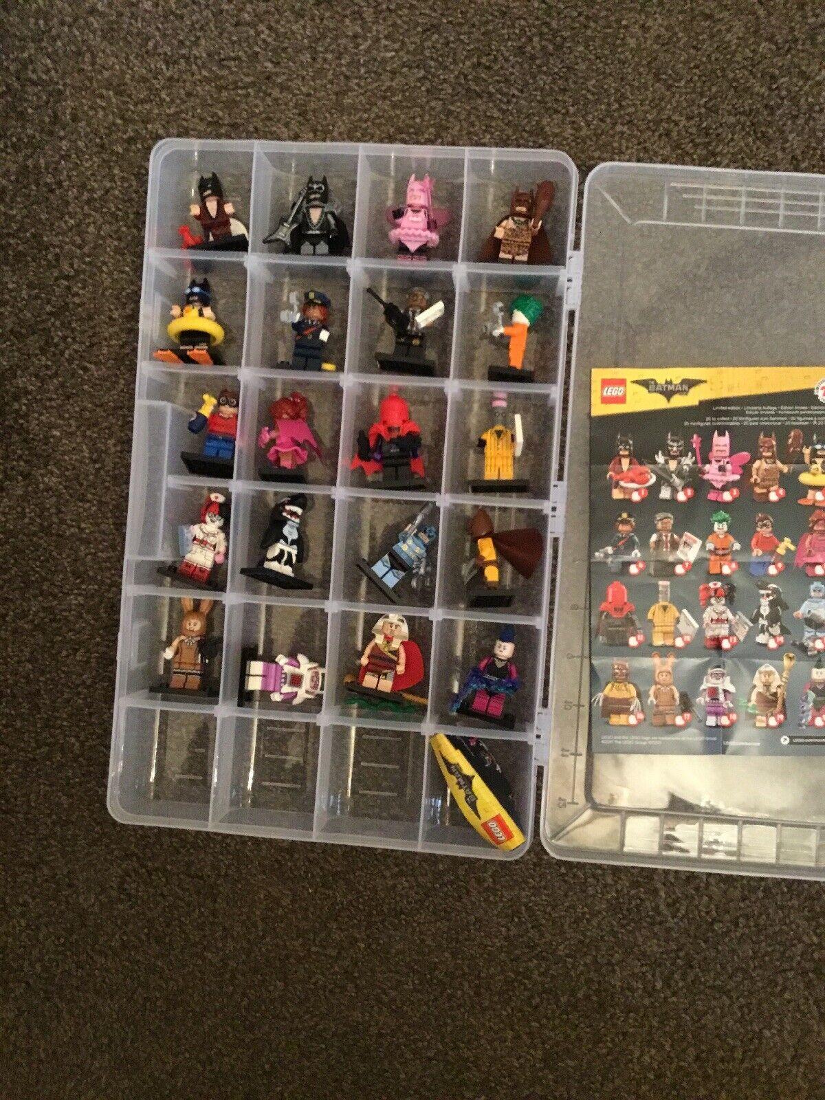 LEGO Minifigures Batman Movie Series 1 Complete Set  In Dust Fee Case