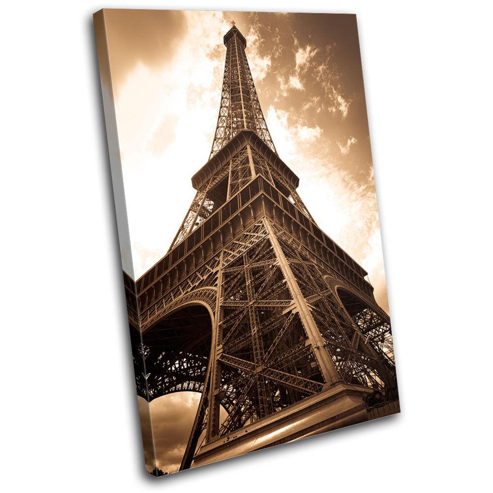 Eiffel Tower Paris France Canvas Art Picture Print Decorative Photo Wall Hanging