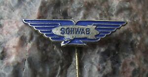 1960s Schwab Airship Luftschiff Balloon Zeppelin Aviation Advertising Pin Badge