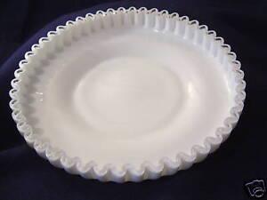 FENTON-ART-SILVER-CREST-SHALLOW-BOWL-VINTAGE-WHITE-MILK-GLASS-7316