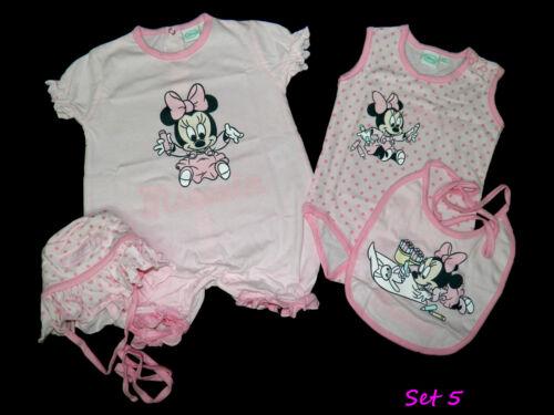 Disney Minnie Mickey Cadeau naissance 44 50 56 baptême joueur body bonnet bavoir