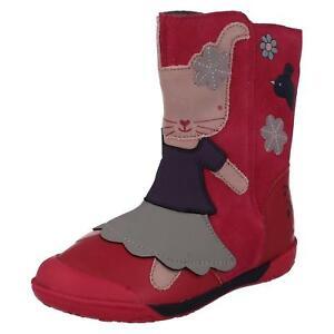 Clarks-Binkies-Rabbit-Bunny-Pink-Iva-Friend-Suede-Girls-Boots-7G-8F-9-1-F