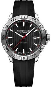 RAYMOND WEIL Tango Diver Men's Silcone Band Black Dial Watch 8160-SR2-20001 NIB