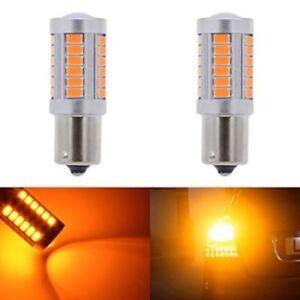 New-Amber-P21W-1156-BA15S-LED-Bulb-5730-SMD-Super-Bright-Car-Light-2pcs-set-Hot