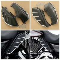 Black Mid Frame Air Deflector Trims For Harley Touring Road King Tri Glide 09-17
