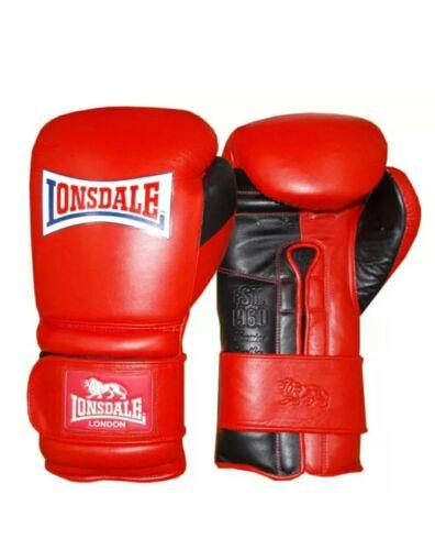 LONSDALE Red /& Black Barn Burner Hook Loop Boxing Training Gloves 16 oz