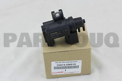 258190W010 Genuine Toyota VALVE ASSY VACUUM REGULATING 25819-0W010