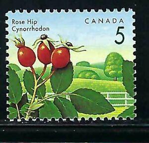 CANADA - SCOTT 1352 - VFNH - EDIDLE BERRIES DEFINITIVES - ROSE HIP - 1992