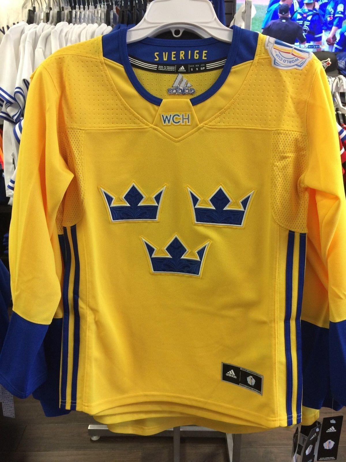 Suède équipe Adidas Jersey réplique grandes dames de hockey 2016