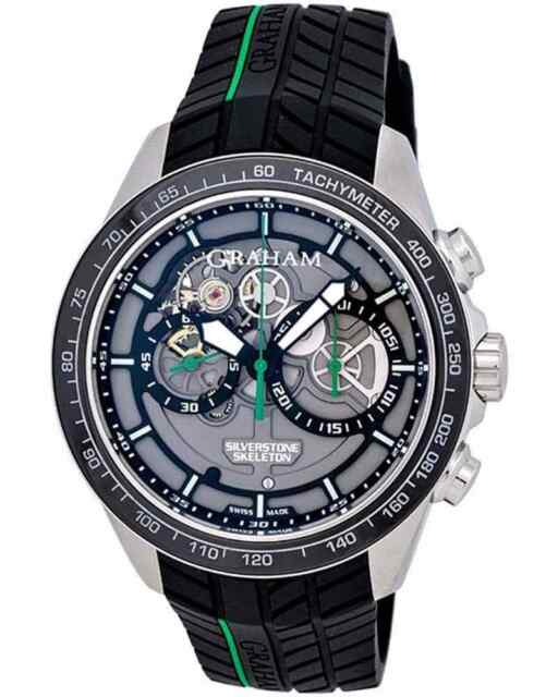 GRAHAM SILVERSTONE RS SKELETON 46mm CHRONOGRAPH AUTOMATIC MEN'S WATCH $14,580