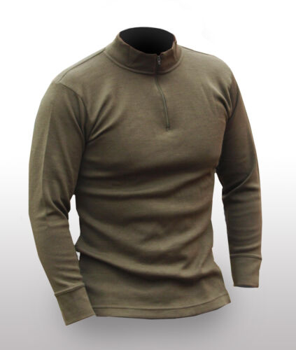 ITALIAN ARMY NORGI THERMAL SHIRT TOP XS EXTRA SMALL OLIVE BASE LAYER