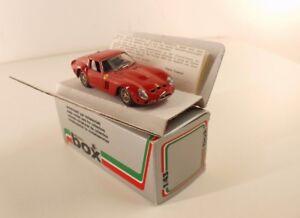 Model Box ref. 8401 Ferrari 250 GTO 1962 1/43 mint neuf - France - État : Neuf: Objet neuf et intact, n'ayant jamais servi, non ouvert. Consulter l'annonce du vendeur pour avoir plus de détails. ... Fabricant: Model Box Echelle: 1/43 Type: Voiture: passager Couleur dominante: Rouge Marque: model box Numéro de - France