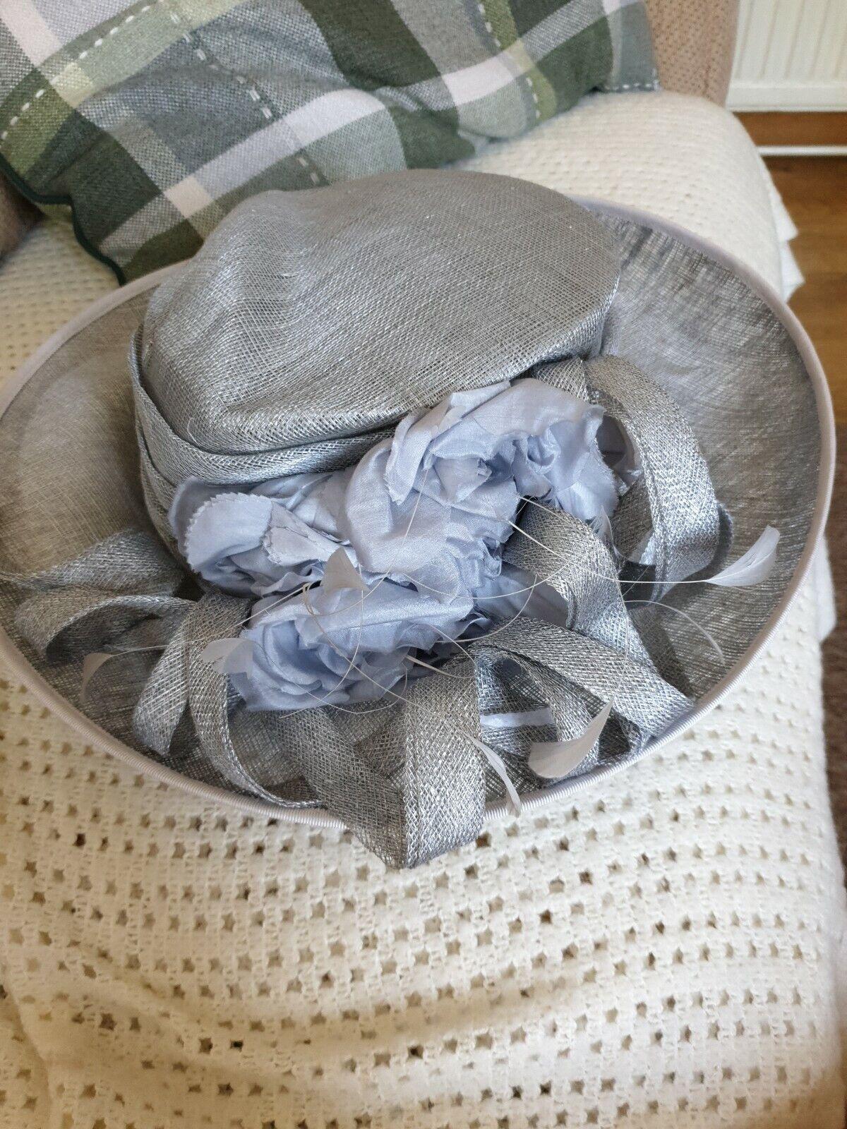 Nigel Rayment designer hatinator. Mother of bride hat Racers - Silver grey