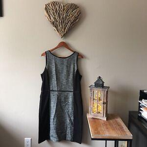Ann Taylor Loft Sleeveless Stretch Tweed Dress Size 14 Ebay