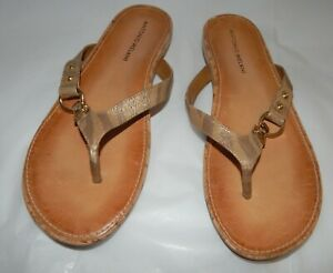 15f98d110b15 Antonio Melani CALLA Leather Flip-flops Thong Sandals Womens Sz 7.5 ...