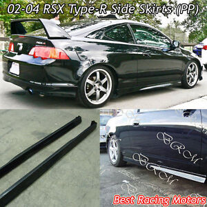 TR Style Side Skirts PP Fits Acura RSX EBay - Acura integra type r side skirts