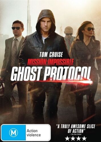 1 of 1 - GHOST PROTOCOL-MISSION IMPOSSIBLE DVD=TOM CRUISE=REGION 4=NEW AND SEALED