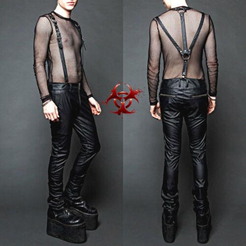 Lip service Jarretelles Pvc Harnais Fetish Jeans Vegan Cuir Gothique Punk Pantalon