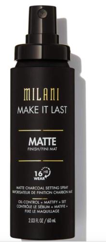 Milani Make it Last Matte Charcoal Setting Spray - Full Size 2.03 fl. oz.