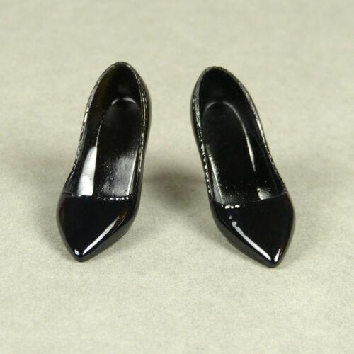 1//6 Scale Phicen Hot Toys Kumik Cy PT Female Black Glossy Sharp Heel Shoes