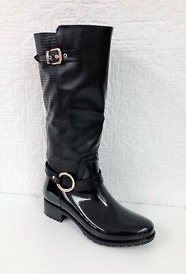 Stivale donna alto in gomma ed eco pelle stivali con tacco