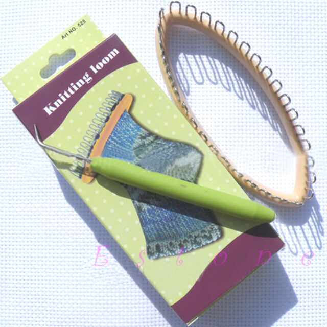 "Knitting Loom Craft DIY Tool For Socks LegWarmers Hobby Kit 5.5""x2.2"" 32 Peg"
