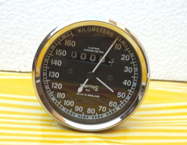 Royal Enfield   Motorcycle Speedometer 160 kmph white Replica Smiths - Black