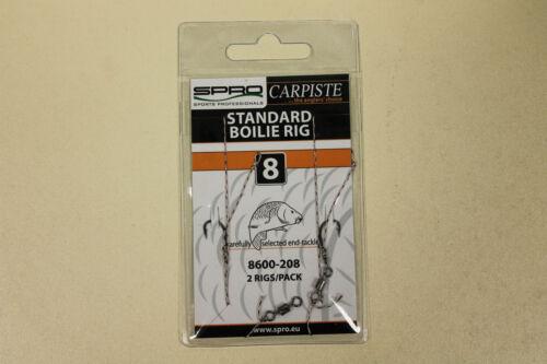 Größen Karpfenhaken Spro Carpiste Standard Boilie Rig Vorfach 2er Pack versch
