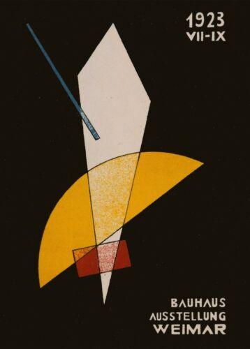 "LASZLO MOHOLY-NAGY /""THE 1923 EXHIBITION/"" Bauhaus Constructivism 250gsm A3 Poster"