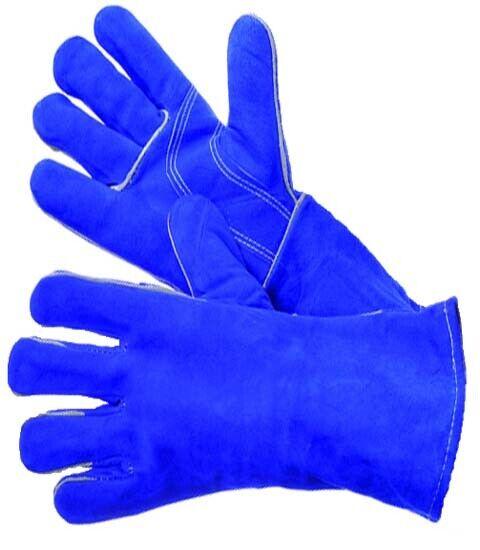 "Welder Gloves 12/"" Gray Leather Cowhide"