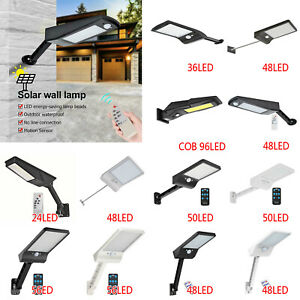 48 LED Solar Power Light PIR Motion Sensor Security Outdoor Garden Wall Lamps UK
