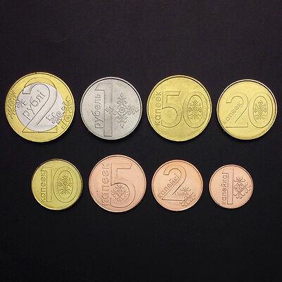 BELARUS COMPLETE COIN SET 1+2+5+10+20+50 Kopeek 1+2 Rubel 2009 2016 UNC LOT of 8