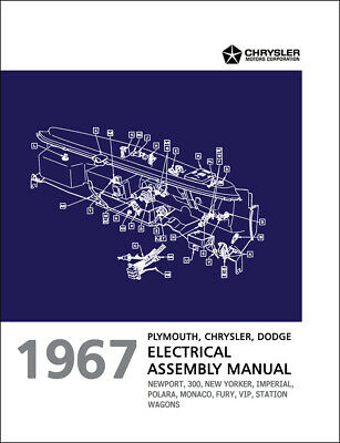 1967 chrysler electrical assembly manual wiring 300 newport new yorker  imperial   ebay  ebay