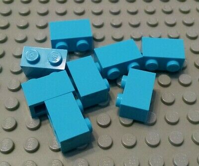 Lego 10 Medium Azure 1x2 Finishing tile NEW